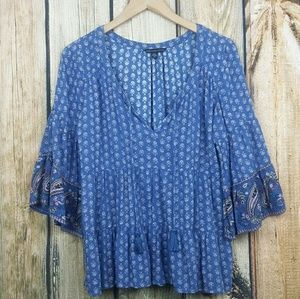 American Eagle Bell sleeve peasant top small
